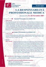 """Seminario """"responsabilità professionale medica"""""""