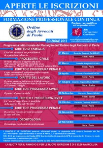 Calendario Formazione Paola 2013