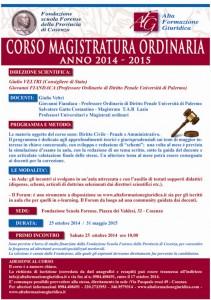 Corso Magistratura Ordinaria 2014-2015