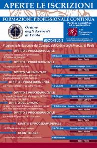 Calendario Formazione Paola 2015
