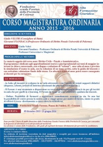 Corso Magistratura Ordinaria 2015-2016 (VI EDIZIONE)