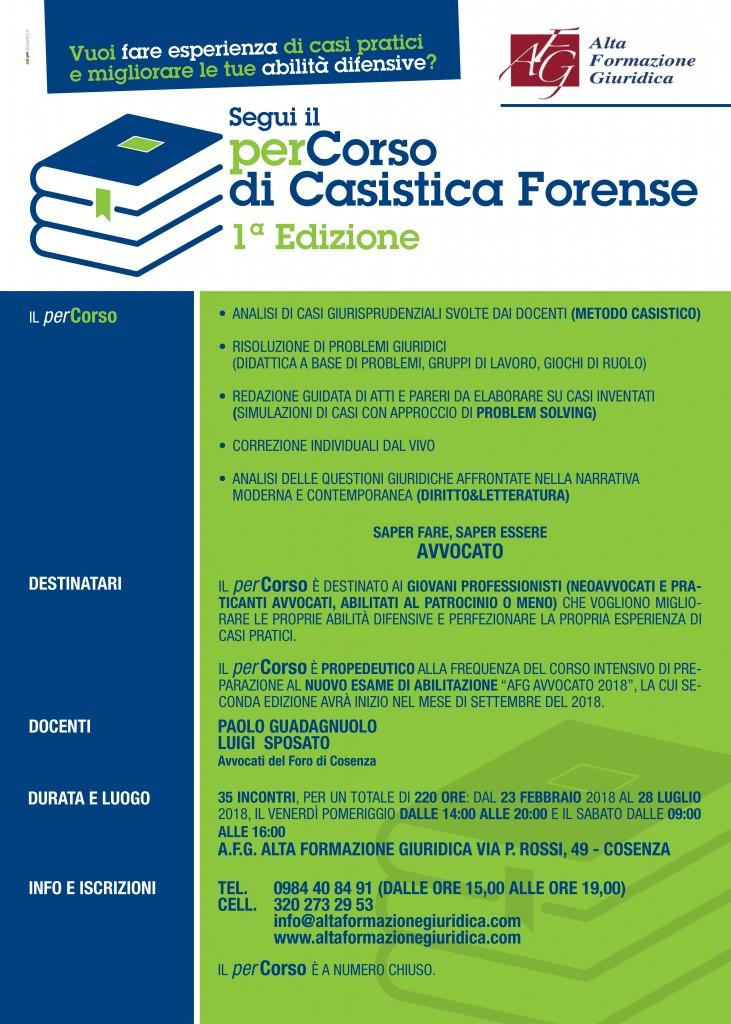 1° Edizione perCorso di Casistica Forense 2018