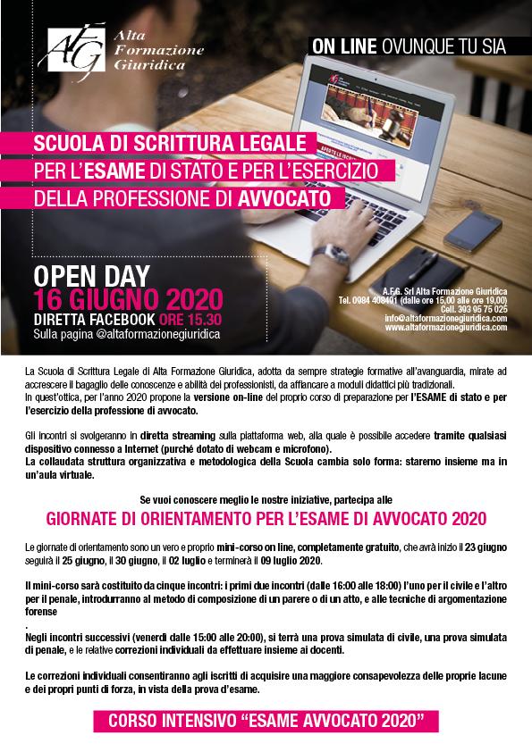 Scuola di Scrittura Legale ONLINE 2020 per l'ESAME di stato e per l'esercizio della professione di Avvocato